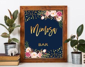 Mimosa bar sign, mimosa bar, printable mimosa bar , mimosa sign. bubbly bar, mimosa, bridal shower mimosa, mimosa bar print, mimosa bar, #3