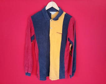 vintage Columbia polo colourfull small shirt
