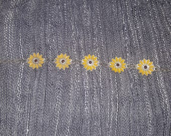 Vintage Blackeyed Susan Flowered Necklace