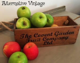 Vintage Covent Garden Fruit Company  wooden box - Up the 'apples & pears'