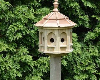 Small Spindle Gazebo Birdhouse Wood Amish Handcrafted