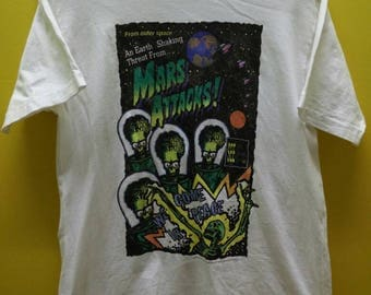 Vintage Mars Attacks Movie By Warner Bros T Shirt