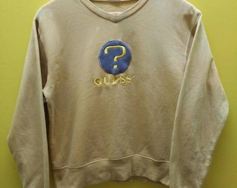 Vintage GUESS USA Embroidery Logo Sweatshirt