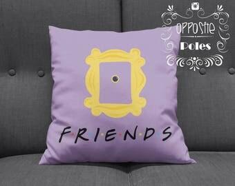 Sale !! Friends Pillow - friends tv show - friends pillow cover - TV Show - vintage - heart vintage - pillow cover - free shipping