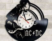 ACDC vinyl clock ACDC decor ACDC wall poster acdc  acdc rock band acdc fan gift acdc music acdc rock music acdc wall art acdc Womans Day