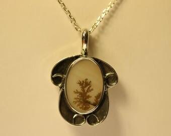 Dendritic Agate pendant