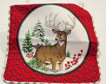 Winter Deer Stag Pillow Cover Pillow Case