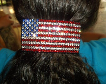 Large Flag Barrette