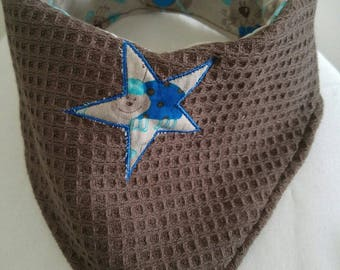 bandana towel with appliqué star
