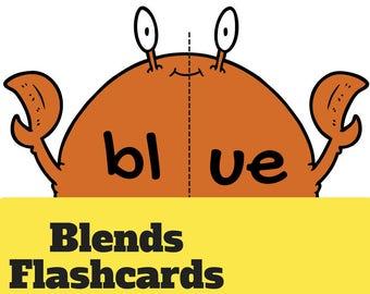 Blend Smoothies flashcard sheets - Bl  |  Cl  |  Fl  |  Gl  |  Pl - colour version