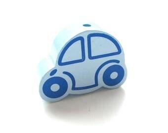 Great car - tender blue wooden bead