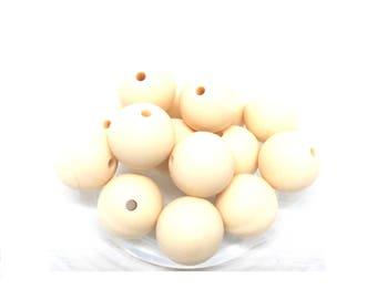 10 pearls Silicone 15mm - flesh