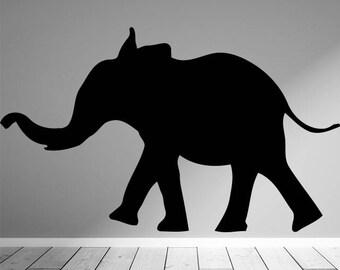 Baby Elephant Decal, Baby Elephant Sticker, Animal Silhouette Decals, Safari Decals, Safari Animal Decals, Jungle Decals, Animal Decals