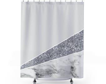 Dimond Marble Texture Shower Curtains