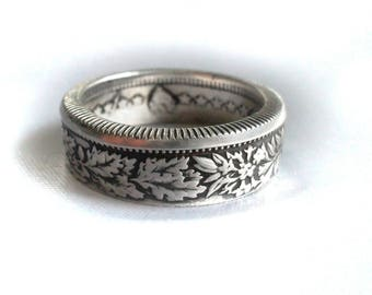 Swiss Silver Two Franc Coin Ring,Helvetia,Helvetia coin ring