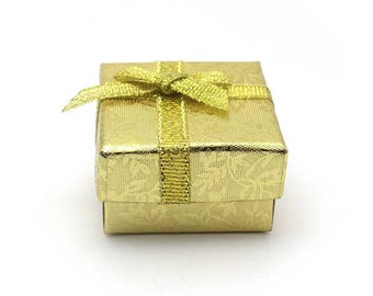Jewelry box - yellow and gold