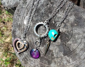 Three charmed necklace