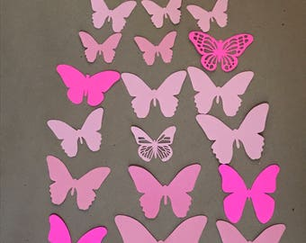 Butterfly Cut Outs, Die Cuts, Assorted Sizes