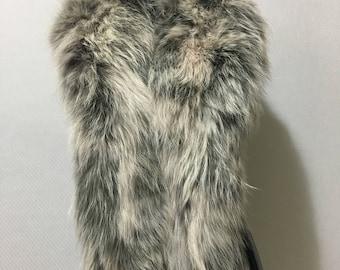 Beautiful Real Large Snowtap Fox Fur Collar