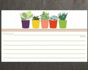 Succulent Recipe Cards