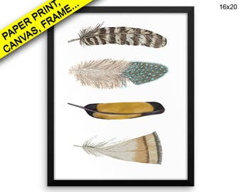Feathers Canvas Art Feathers Printed Feathers Home Art Feathers Home Print Feathers Framed Art Feathers feather art feather Canvas painting