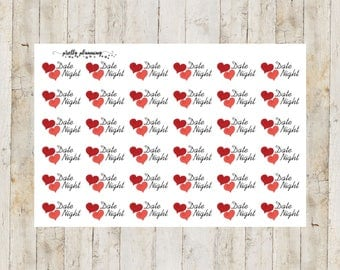 Date Night Planner Stickers by Pretty Planning! Colorful and fun stickers ideal for planning your life!