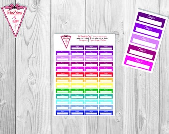 Printable Steps Stickers - Functional Stickers w/Cut Line