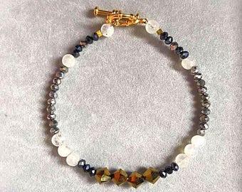 Wrist Ministry Pixie Collection Beaded Bracelet Gold Swarovski