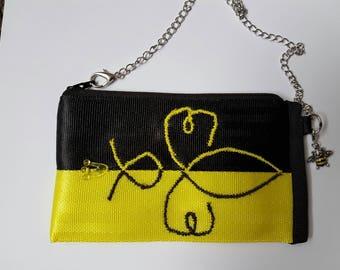 Handmade queen been seat belt webbing coin purse