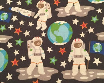 Astronaut, Space, Earth, Outer Space from Camelot Fabrics