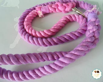 Pink/Purple Ombre Rope Dog Lead / Rope Dog Leash / 4ft Rope Dog Lead / 12mm / Rope Lead / Rope Leash / Pet Supplies