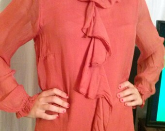 Tunic long sleeves in salmon color