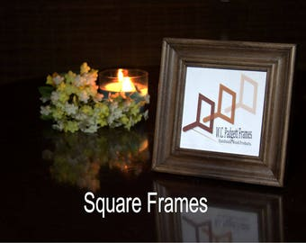 Square Picture Frames, Baby Shower, Photo Frame, Handmade Frame, Wall Decor, Home Decor, Gift For Her, Housewarming Gift, Wedding Gift