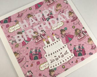 Happy birthday, princess card, sister, daughter, neice, cousin, friend, birthday card