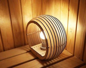 """Lamp, """"Sphere"""" Vector drawing for CNC. Parametric lamp designer."""