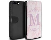 Pink Marble Pink Font Frame Personalized Custom Design Wallet Flip Phone Case iPhone 5 5s SE 6 6S Plus 7 7 Plus