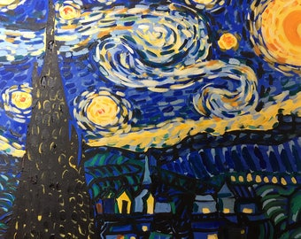 Starry Night Depiction