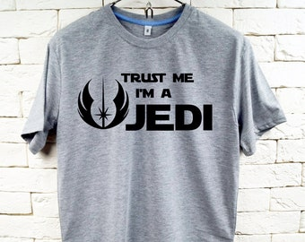 STAR WARS Trust Me I'm A Jedi Gray T-Shirt For Men