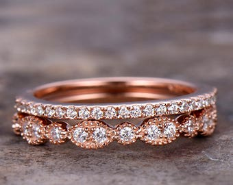 Half eternity wedding ring,925 sterling silver wedding band,rose gold or white gold plated,thin pave or marquise matching band