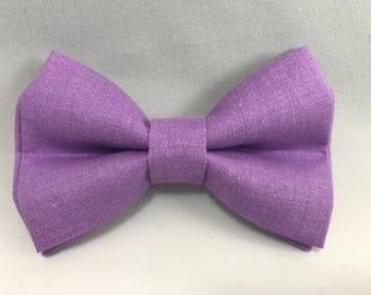 Purple - Clip Bow Tie