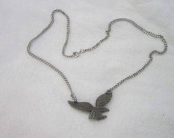Retro Avon Flying Eagle Pendant & Chain Necklace