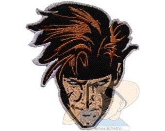 Gambit Face Embroidered Patch Comic Marvel Super Heroes Avengers X-men