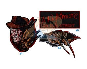 Freddy Krueger Embroidered Patches Horror Movie A Nightmare on Elm Street Logo