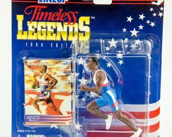 Starting Lineup 1996 Timeless Legends Michael Johnson 92 Olympics Action Figure