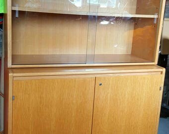 Oak Veneer Display Cabinet From The Crown Suppliers (Government Business of the Environment Agency)