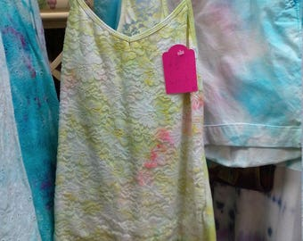 Tie Dyed Lace shirt