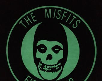 Glow in the dark Misfits t shirt, white in day and glows 4-6 hours