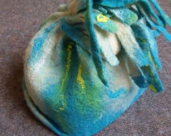 Hand felted cap Merino wool