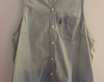 Levi's sleeveless jean blouse
