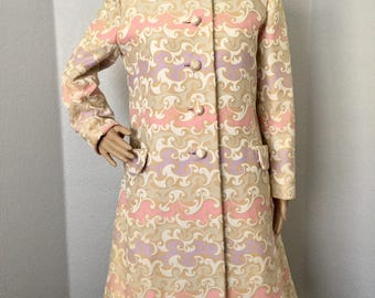Vintage 1960s I Magnin coat dress ensemble